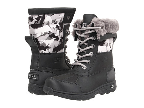UGG Kids - Butte II Backcountry Camo (Little Kid/Big Kid) (Black) Kids Shoes