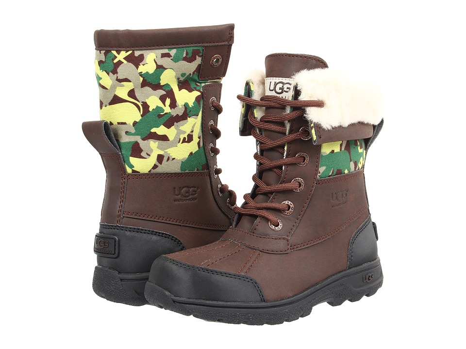 UGG Kids - Butte II Backcountry Camo (Little Kid/Big Kid) (Grizzly) Kids Shoes