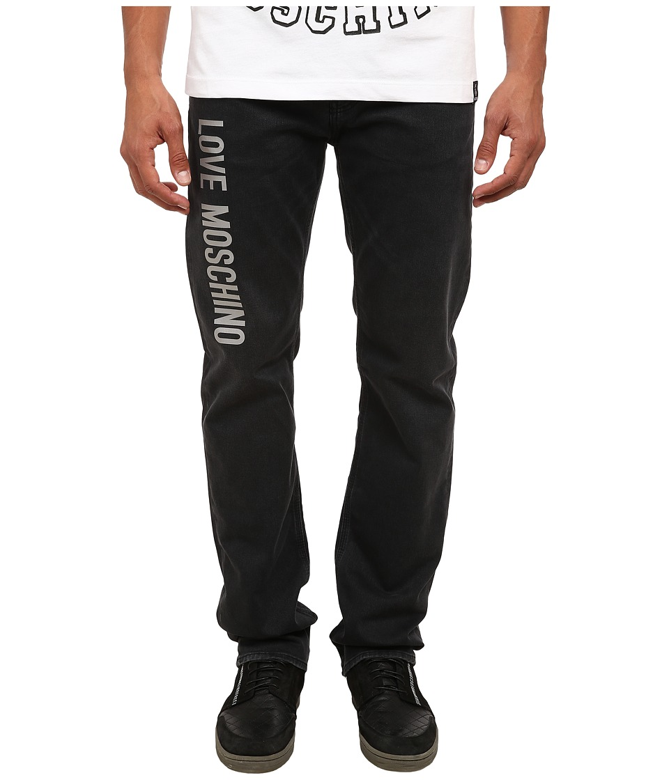 LOVE Moschino - Comfort Fit Denim with Logo (ZZSW6071) Men's Jeans