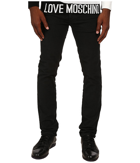 LOVE Moschino - Moschino Graphic Denim (Black) Men