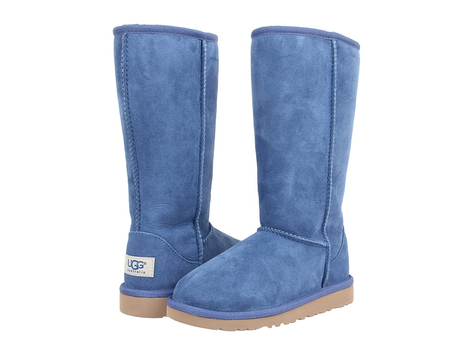 UGG Kids Classic Tall (Little Kid/Big Kid) (Blue Jay) Girls Shoes