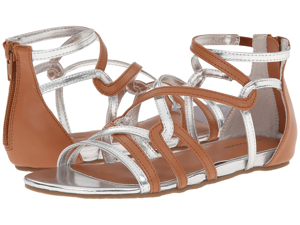 Elie Tahari Kids - Rosie Strappy (Toddler/Little Kid/Big Kid) (Cognac/Silver) Girls Shoes