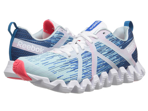 Reebok - Zigtech Squared 2.0 (Cool Breeze/Batik Blue/Cycle Blue/White/Conrad Blue/Neon Cherry) Women's Running Shoes