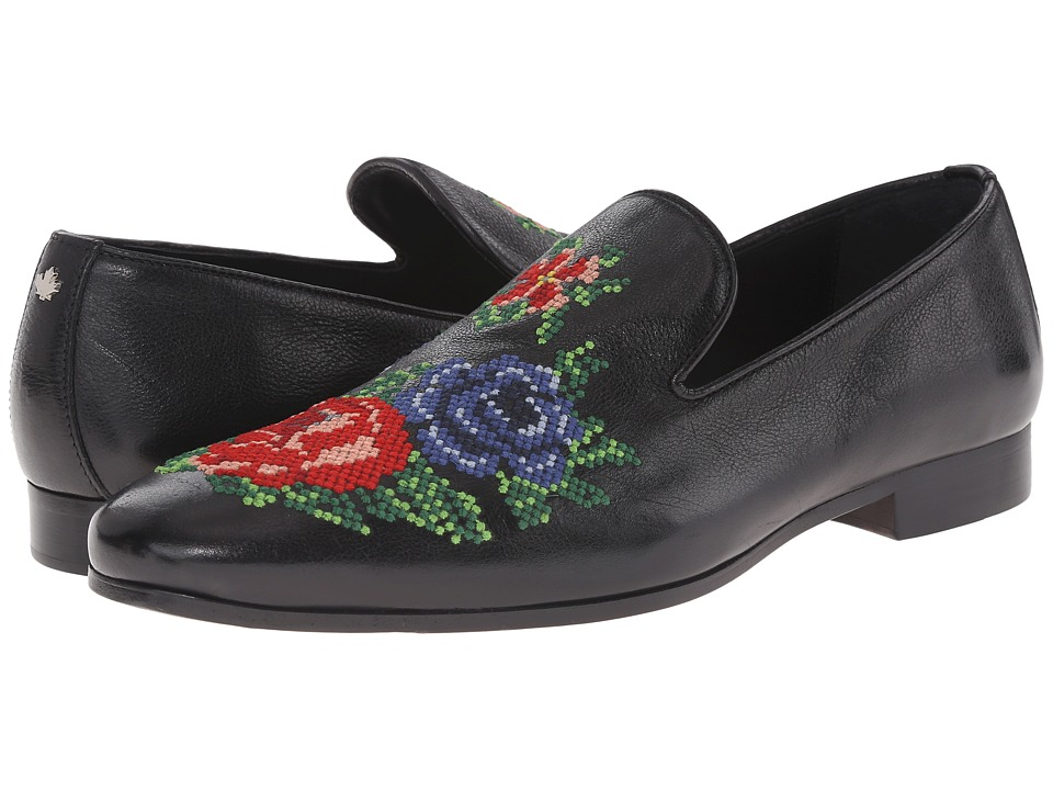 DSQUARED2 - Livio Embroidered Loafer (Black) Men's Slip-on Dress Shoes