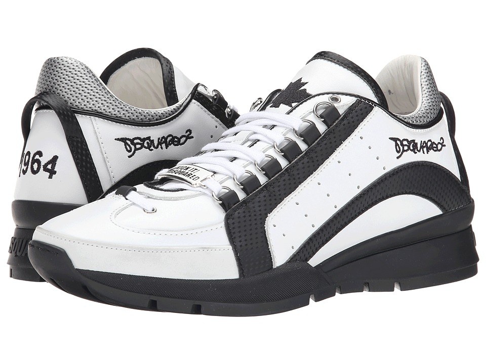 DSQUARED2 - 551 Sneaker (White/Black) Men's Lace up casual Shoes