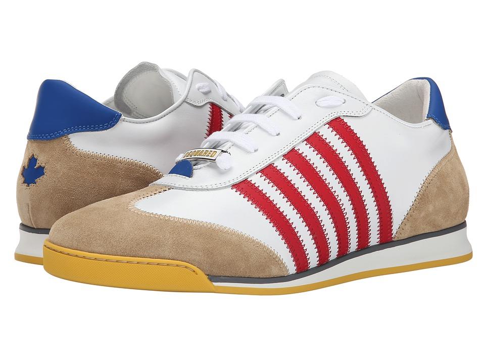 DSQUARED2 - New Runner Sneaker (White/Red) Men