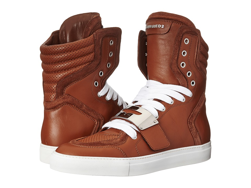 DSQUARED2 - Cambridge High Top Sneaker (Cuoio) Men