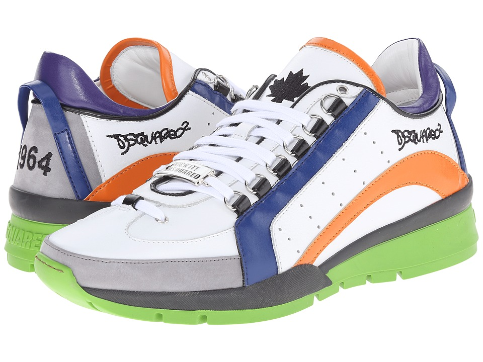 DSQUARED2 - 551 Sneaker (Orange/Blue) Men's Lace up casual Shoes