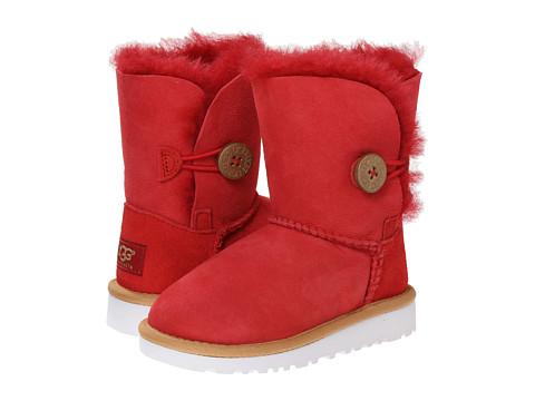 UGG Kids - Bailey Button (Toddler/Little Kid) (Scarlett) Girls Shoes
