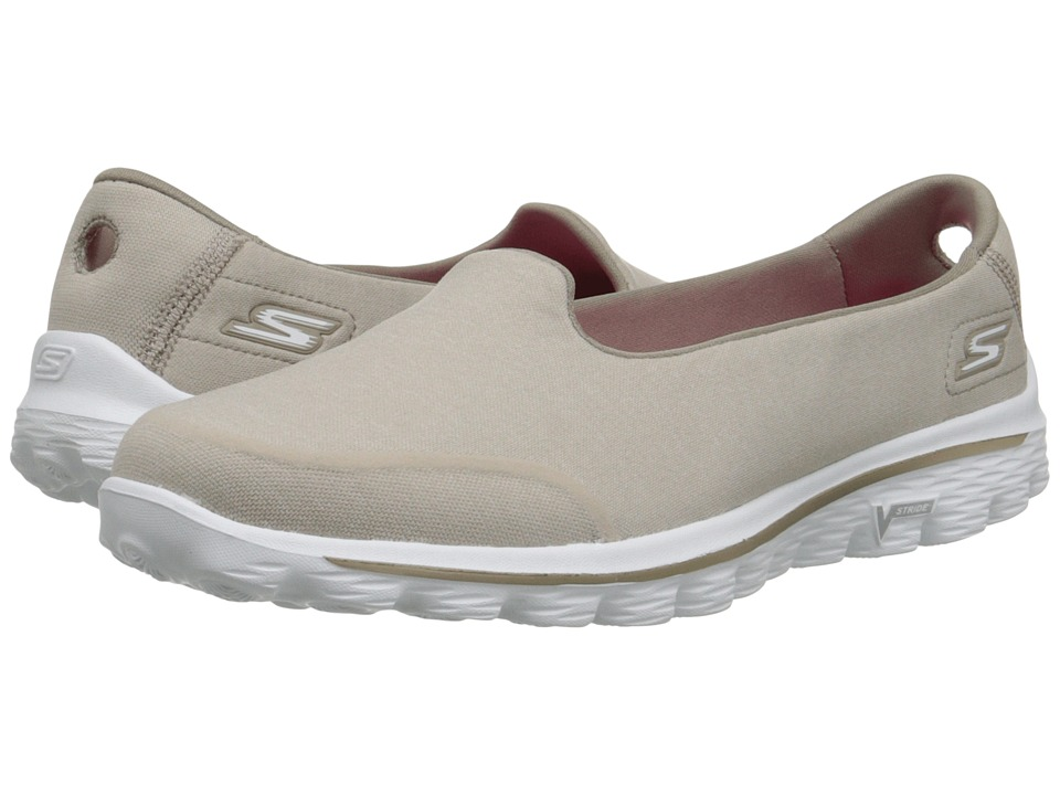 SKECHERS Performance - Go Walk 2 - Bind (Taupe) Women's Shoes