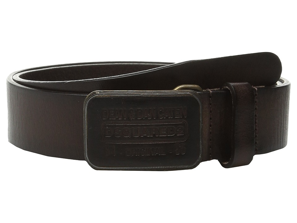 DSQUARED2 - Distressed Belt (T. Moro) Men's Belts