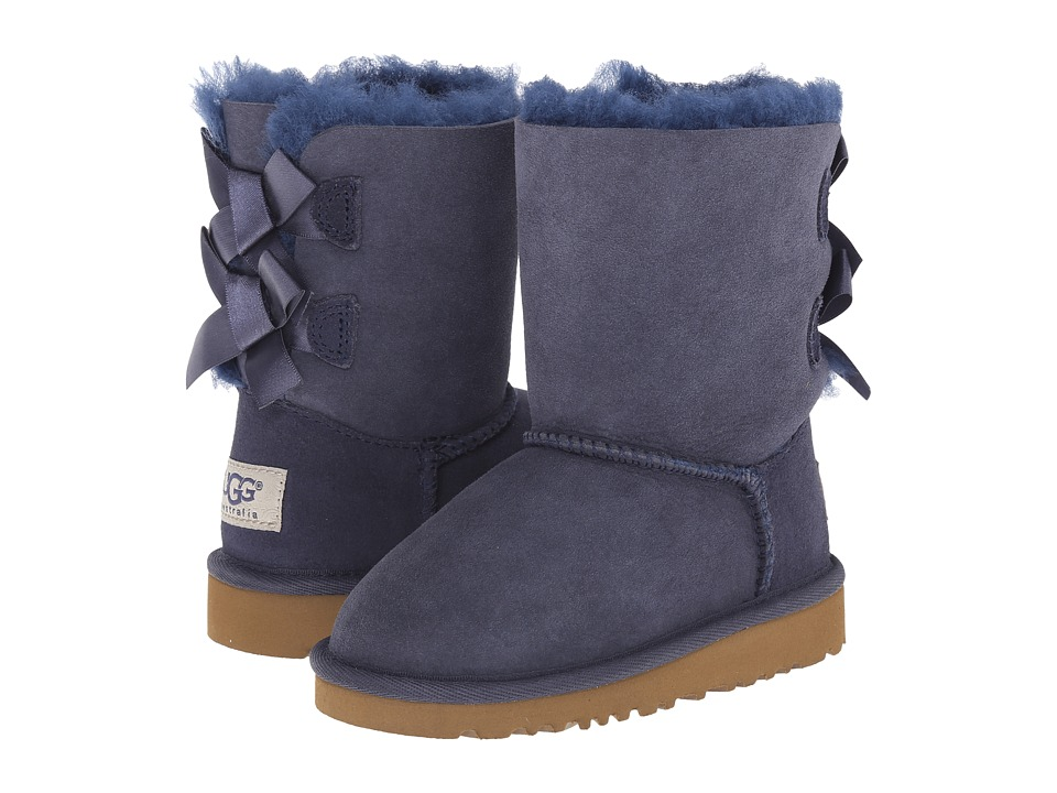 UGG Kids - Bailey Bow (Toddler/Little Kid) (Navy) Girls Shoes