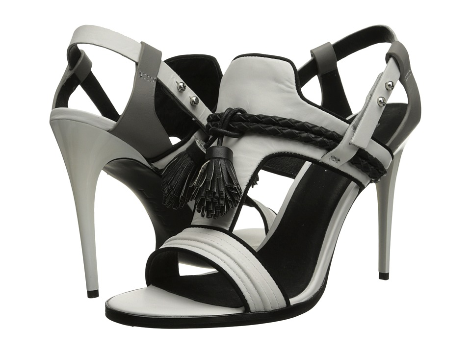 L.A.M.B. Voice (White/Grey) High Heels
