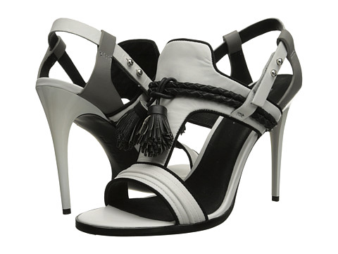 L.A.M.B. - Voice (White/Grey) High Heels