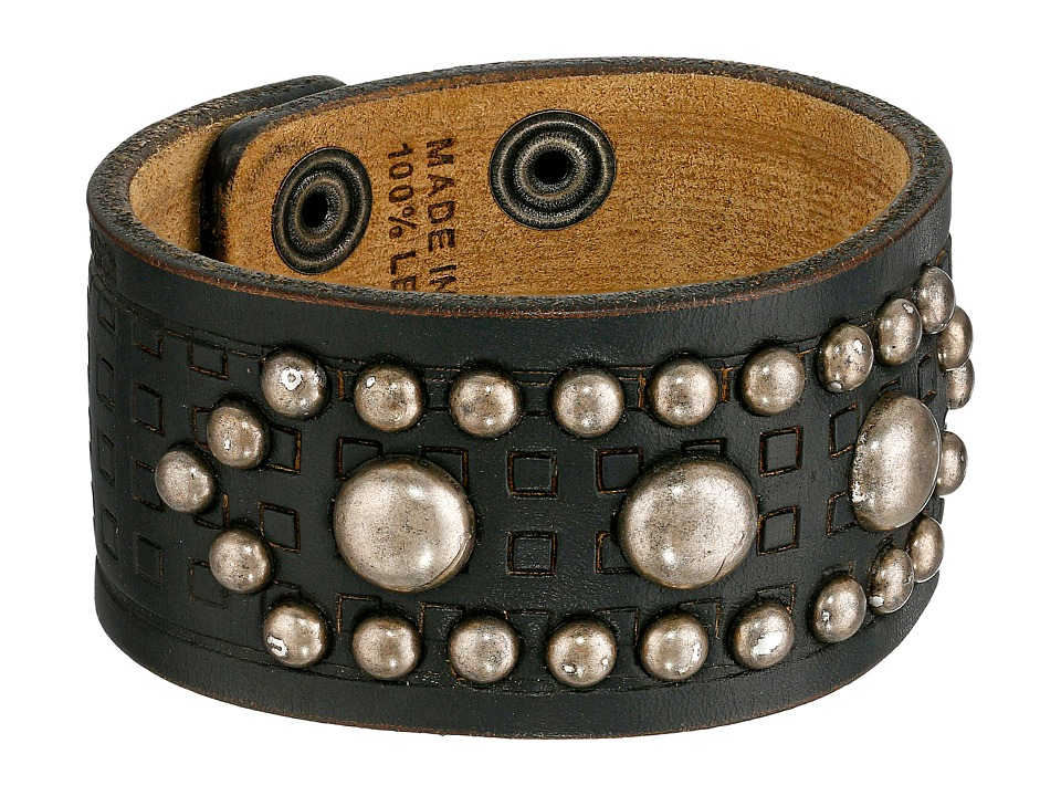 DSQUARED2 - Studded Leather Cuff (Black) Bracelet