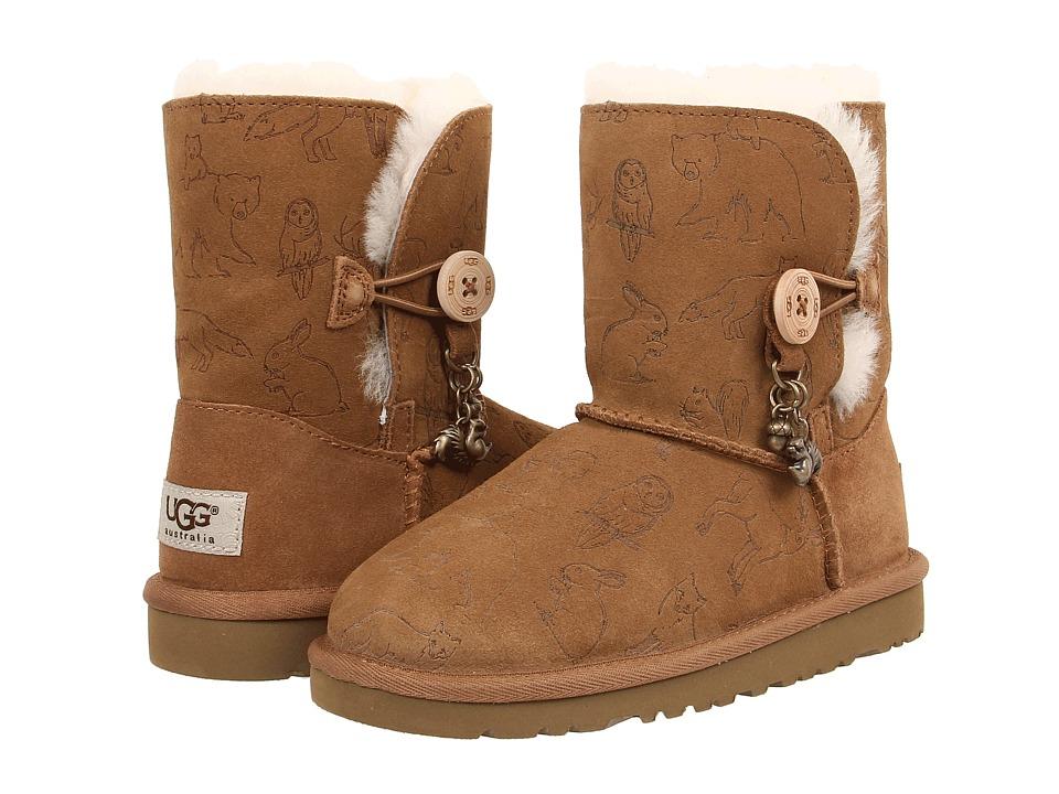 UGG Kids - Fauna (Little Kid/Big Kid) (Chestnut) Girls Shoes