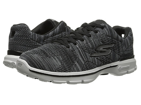 SKECHERS Performance - Go Walk 3 - Contest (Black/Gray) Women's Shoes