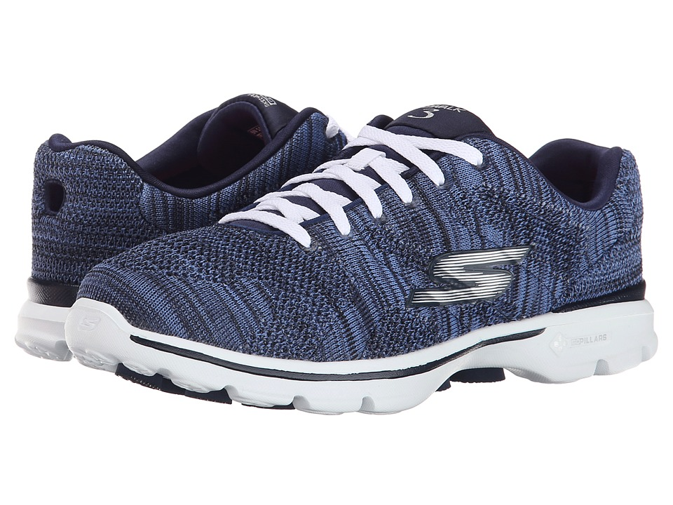 SKECHERS Performance - Go Walk 3 - Contest (Navy/White) Women's Shoes