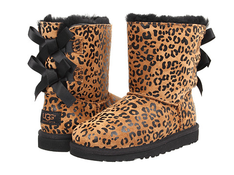 Shoes Online Sale UGG Kids - Bailey Bow Leopard (Little Kid/Big Kid) (Chestnut) Girls Shoes