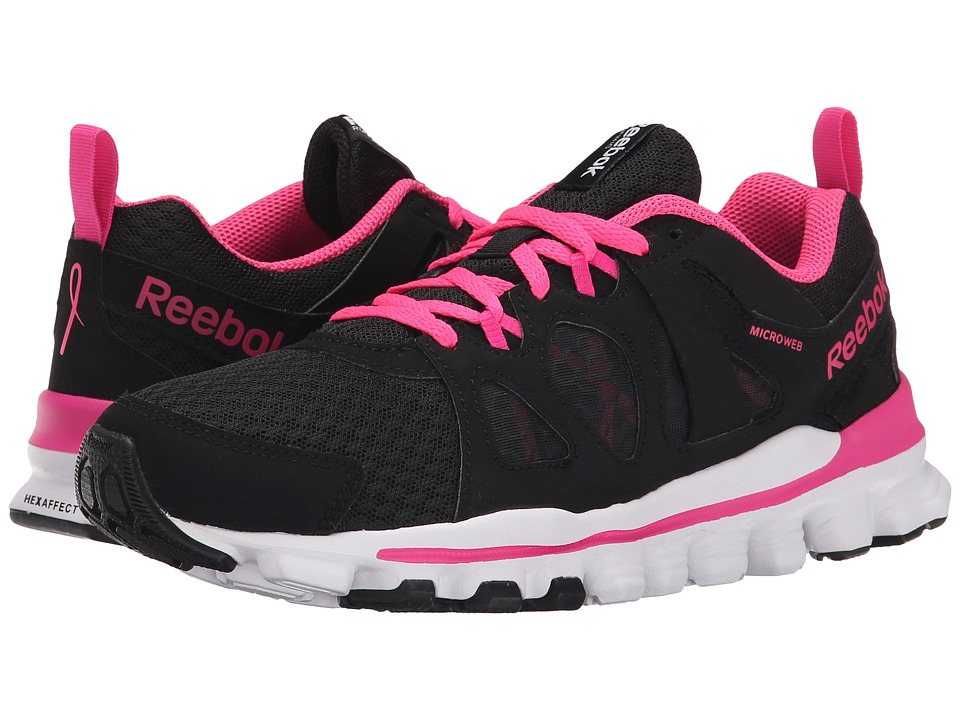 Reebok - Hexaffect Run 2.0 (Black/Dynamic Pink/Solar Pink/White) Women's Running Shoes
