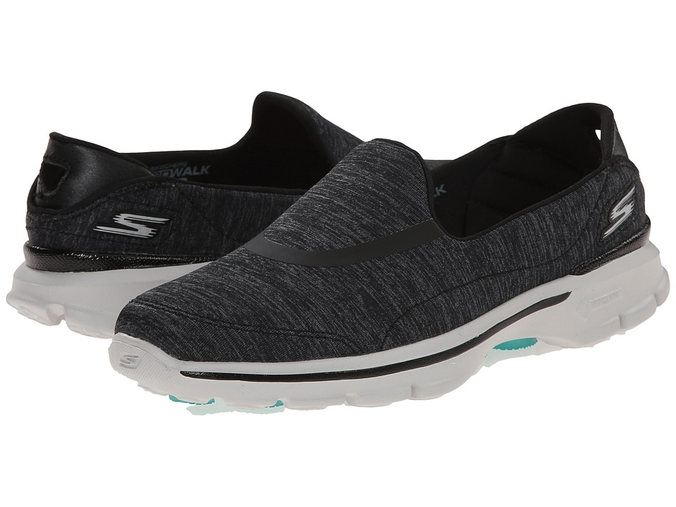 SKECHERS Performance - Go Walk 3 - Force (Black/Gray) Women's Flat Shoes