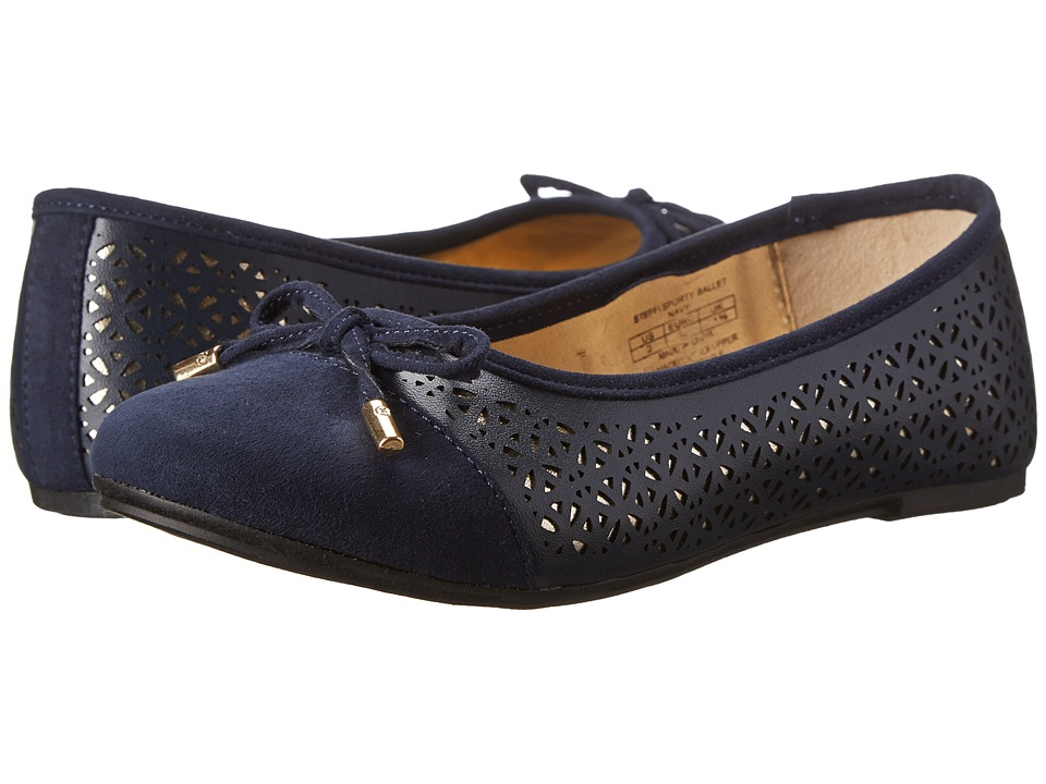 Elie Tahari Kids - Steffi Sporty Ballet (Navy) Girls Shoes