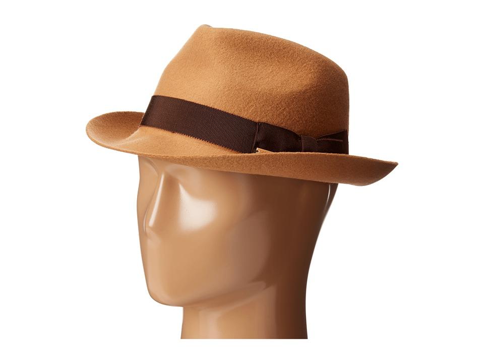 DSQUARED2 - Felted Fedora (Camel) Fedora Hats