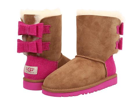 UGG Kids - Bailey Bow Wool (Little Kid/Big Kid) (Chestnut) Girls Shoes