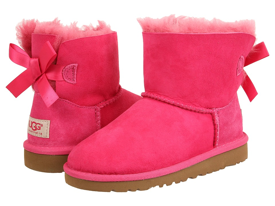 UGG Kids - Mini Bailey Bow (Little Kid/Big Kid) (Cerise) Girls Shoes