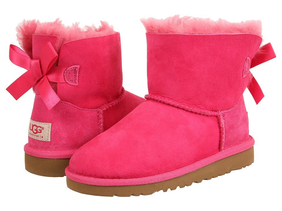 UGG Kids Mini Bailey Bow (Little Kid/Big Kid) (Cerise) Girls Shoes