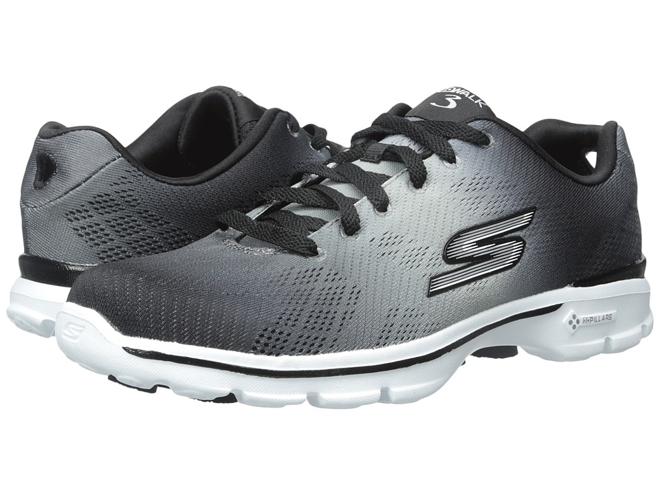 SKECHERS Performance - Go Walk 3 - Pulse (Black/White) Women's Shoes
