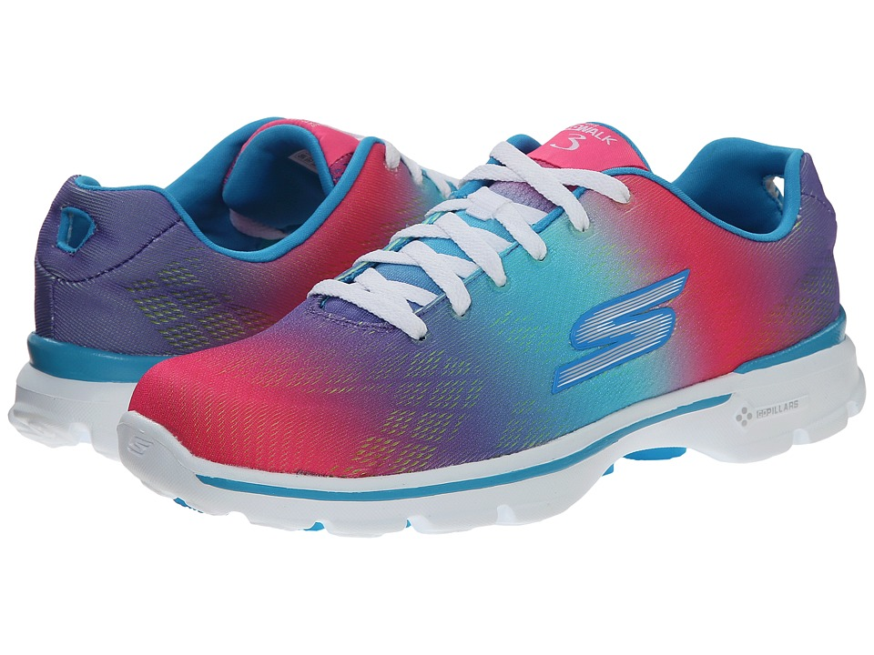 SKECHERS Performance - Go Walk 3 - Pulse (Multi) Women's Shoes