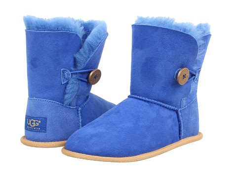 UGG Kids - Bailey Button (Little Kid/Big Kid) (Fiesta Blue) Girls Shoes