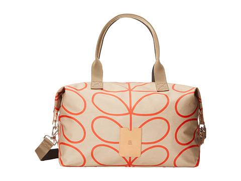 Orla Kiely - Matt Laminated Giant Linear Stem Print Zip Holdall (Stone) Duffel Bags