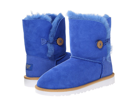 UGG Kids - Bailey Button (Big Kid 2) (Fiesta Blue) Girls Shoes