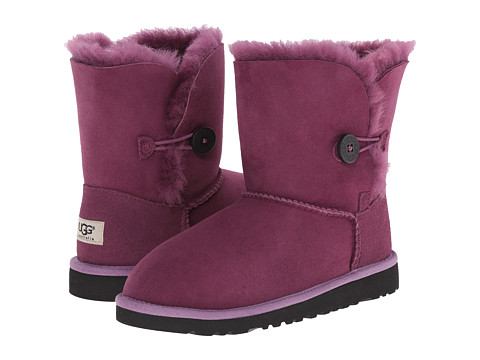 UGG Kids - Bailey Button (Big Kid 2) (Aster) Girls Shoes