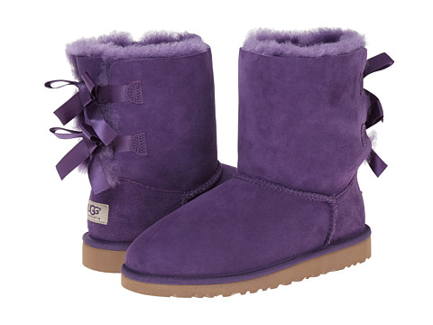 UGG Kids - Bailey Bow (Big Kid) (Bilberry) Girls Shoes