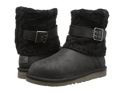 UGG Kids - Cambridge Leather (Big Kid) (Black) Girls Shoes