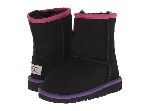UGG Kids - Classic Short Multi (Toddler/Little Kid) (Black Bear Multi) Girls Shoes