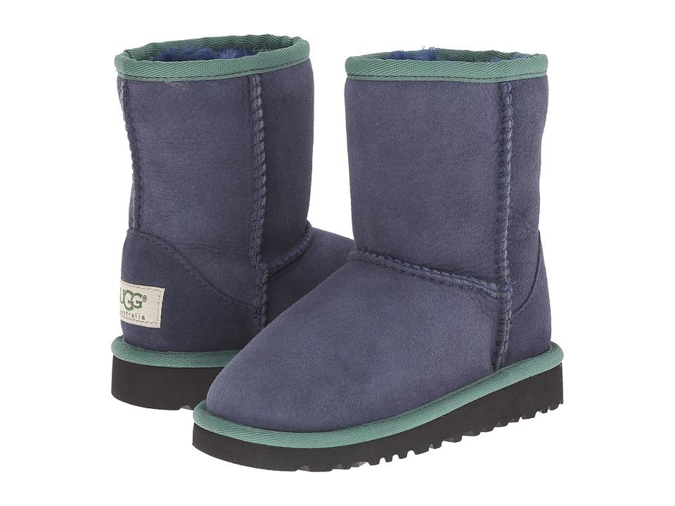 UGG Kids - Classic Short Multi (Toddler/Little Kid) (Navy Multi) Girls Shoes
