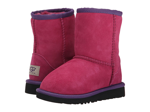 UGG Kids - Classic Short Multi (Toddler/Little Kid) (Red Violet Multi) Girls Shoes