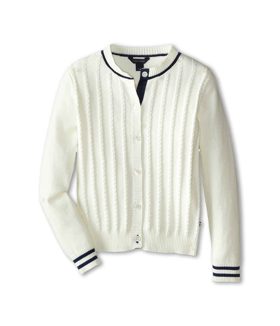 Tommy Hilfiger Kids - Mini Cable Sweater (Big Kids) (Off White) Girl's Sweater