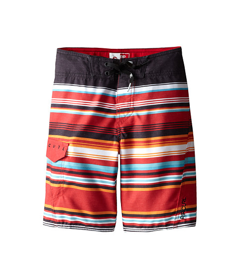 Rip Curl Kids - Dawn Patrol Stripe Boardshorts (Big Kids) (Bright Red) Boy