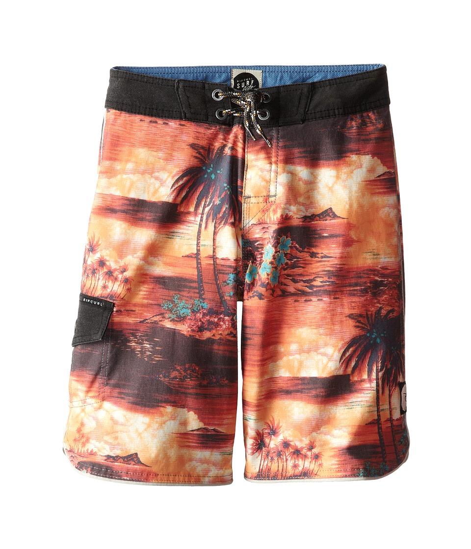 Rip Curl Kids - Island Time Boardshorts (Big Kids) (Bright Red) Boy's Swimwear