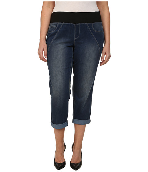 DKNY Jeans - Plus Size Sculpted Leggings Rolled Crop in Conditioning Wash (Conditioning Wash) Women