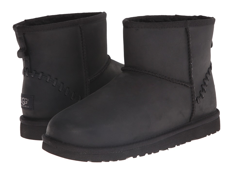UGG Kids - Classic Mini Deco (Big Kid) (Black) Kids Shoes