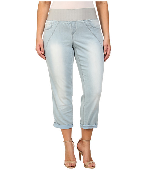 DKNY Jeans - Plus Size Sculpted Leggings Rolled Crop in Toned Wash (Toned Wash) Women