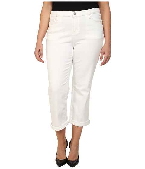 DKNY Jeans - Plus Size Soho Skinny Rolled Crop in White (White) Women's Jeans