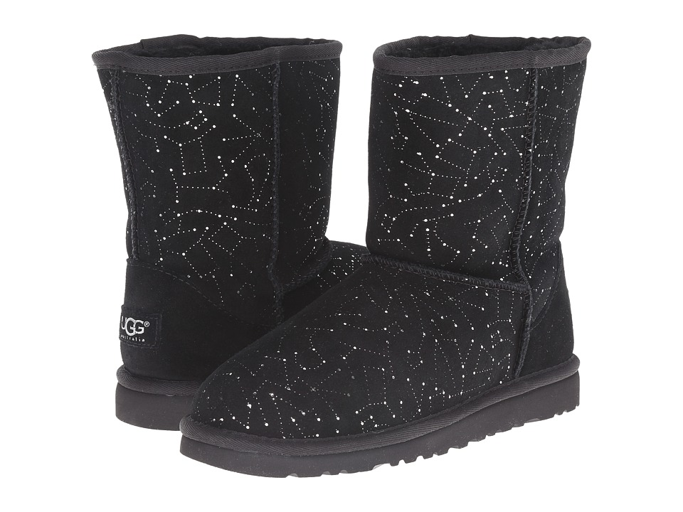 UGG Kids - Classic Short Constellation (Big Kid) (Black) Girls Shoes