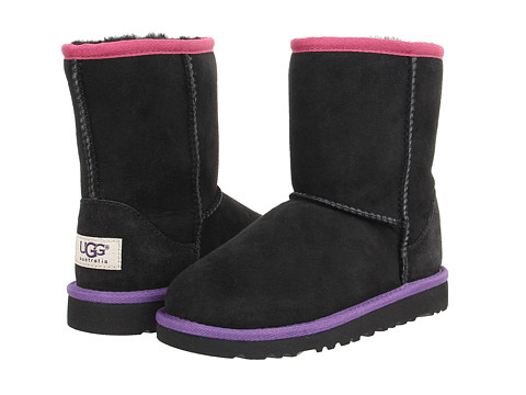 UGG Kids - Classic Short Multi (Little Kid/Big Kid) (Black Bear Multi) Girls Shoes